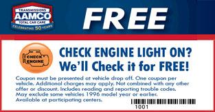 Free Check Engine Light Inspection