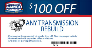 100 OFF any transmission rebuild
